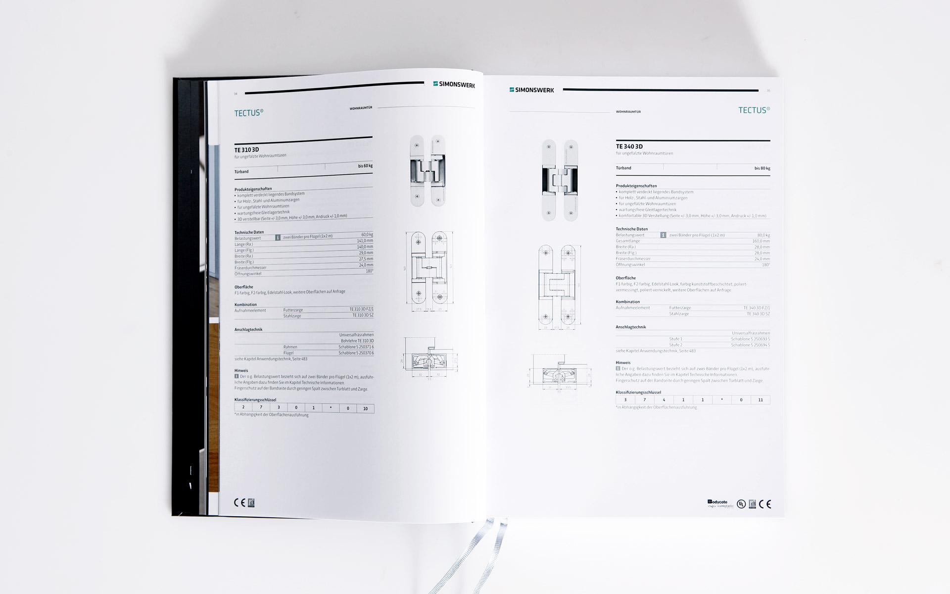 Simonswerk Kompendium 2012, Handbuch, Doppelseite, Produkte
