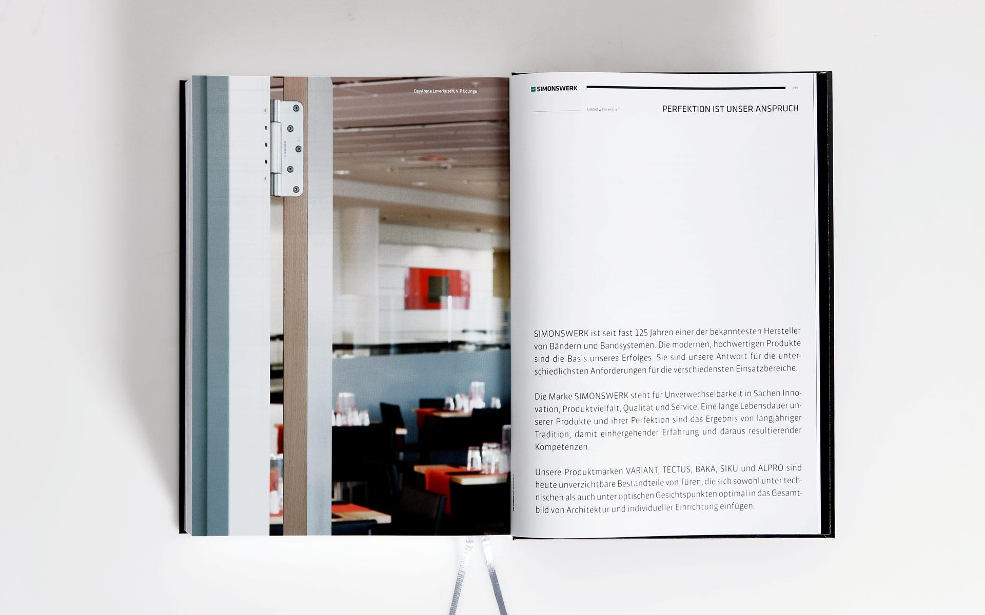 Simonswerk Kompendium 2012, Handbuch, Doppelseite, Referenz