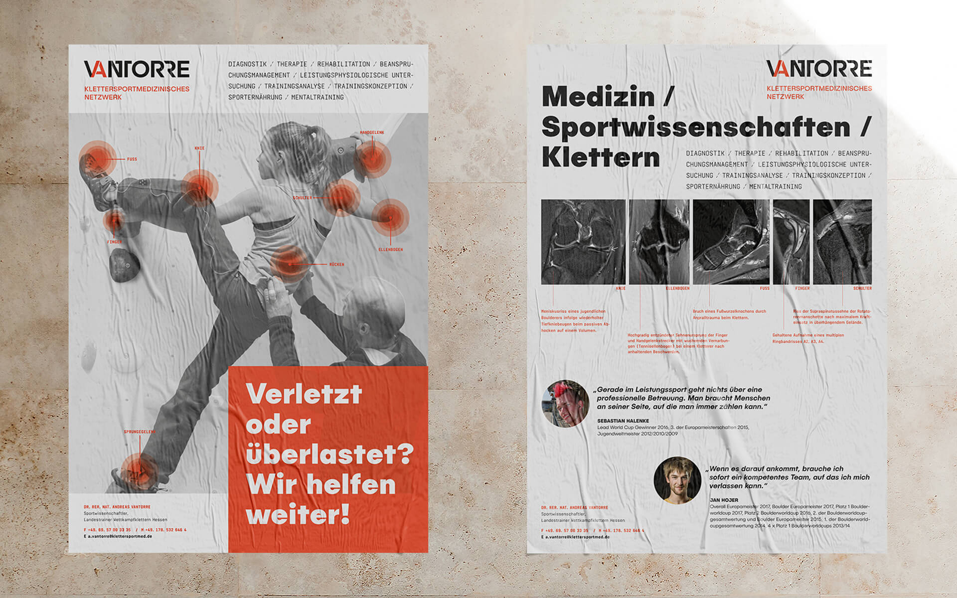 Andreas Vantorre, Corporate Design, Plakatgestaltung