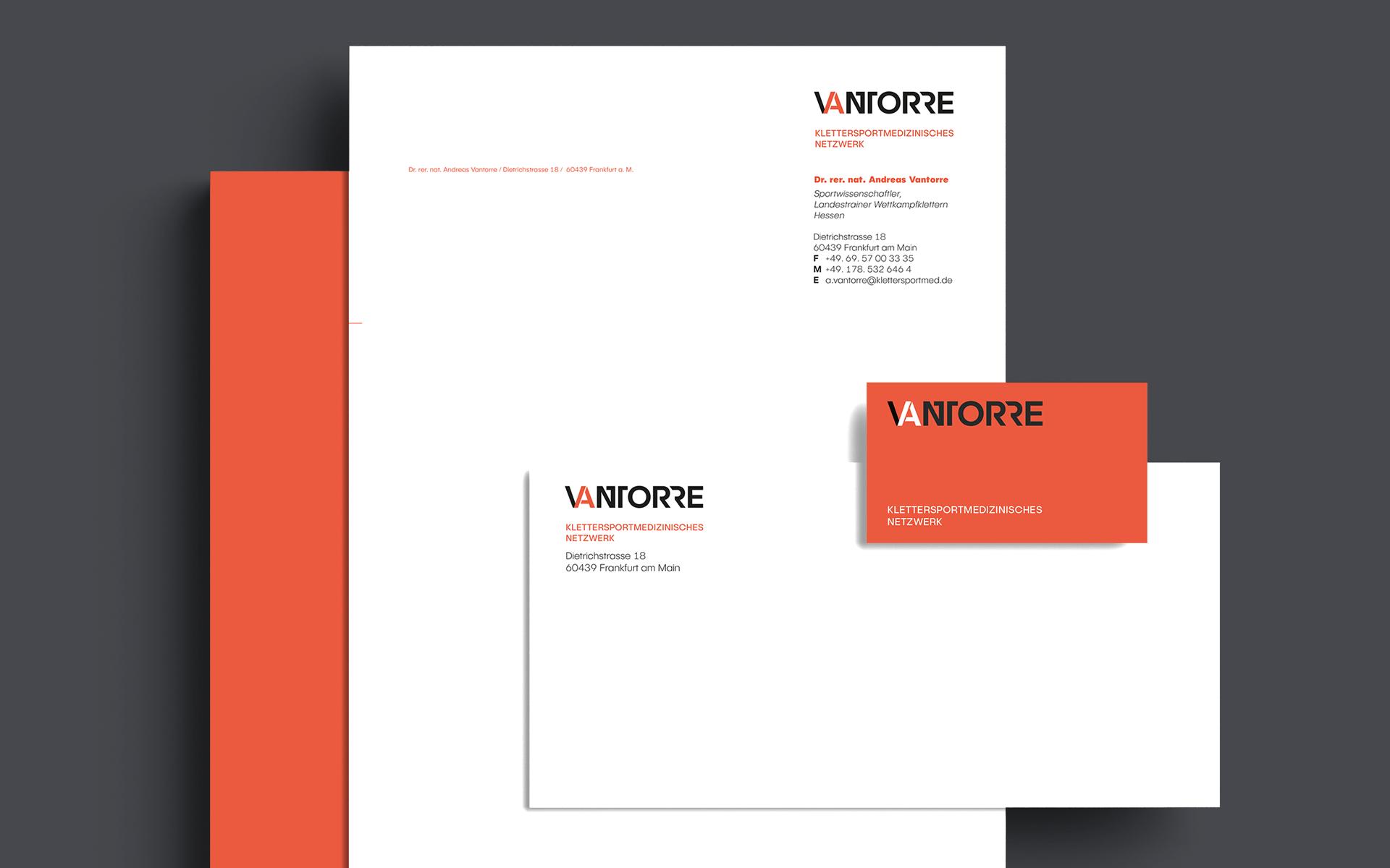 Andreas Vantorre, Corporate Design, Stationery, Geschäftsausstattung