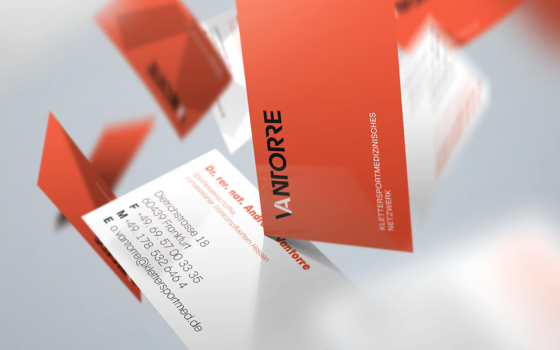 Andreas Vantorre, Corporate Design, Stationery, Visitenkarten