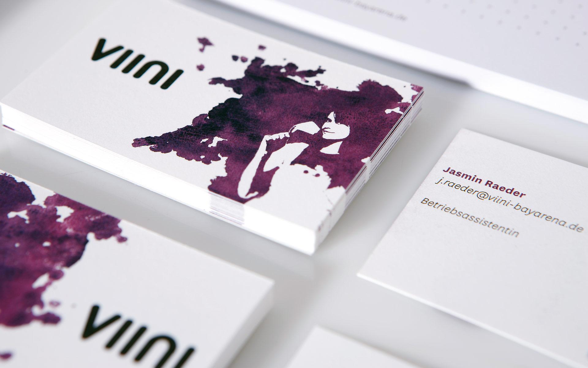 VIINI Brand Identity, Corporate Design, Geschäftsausstattung, Visitenkarte