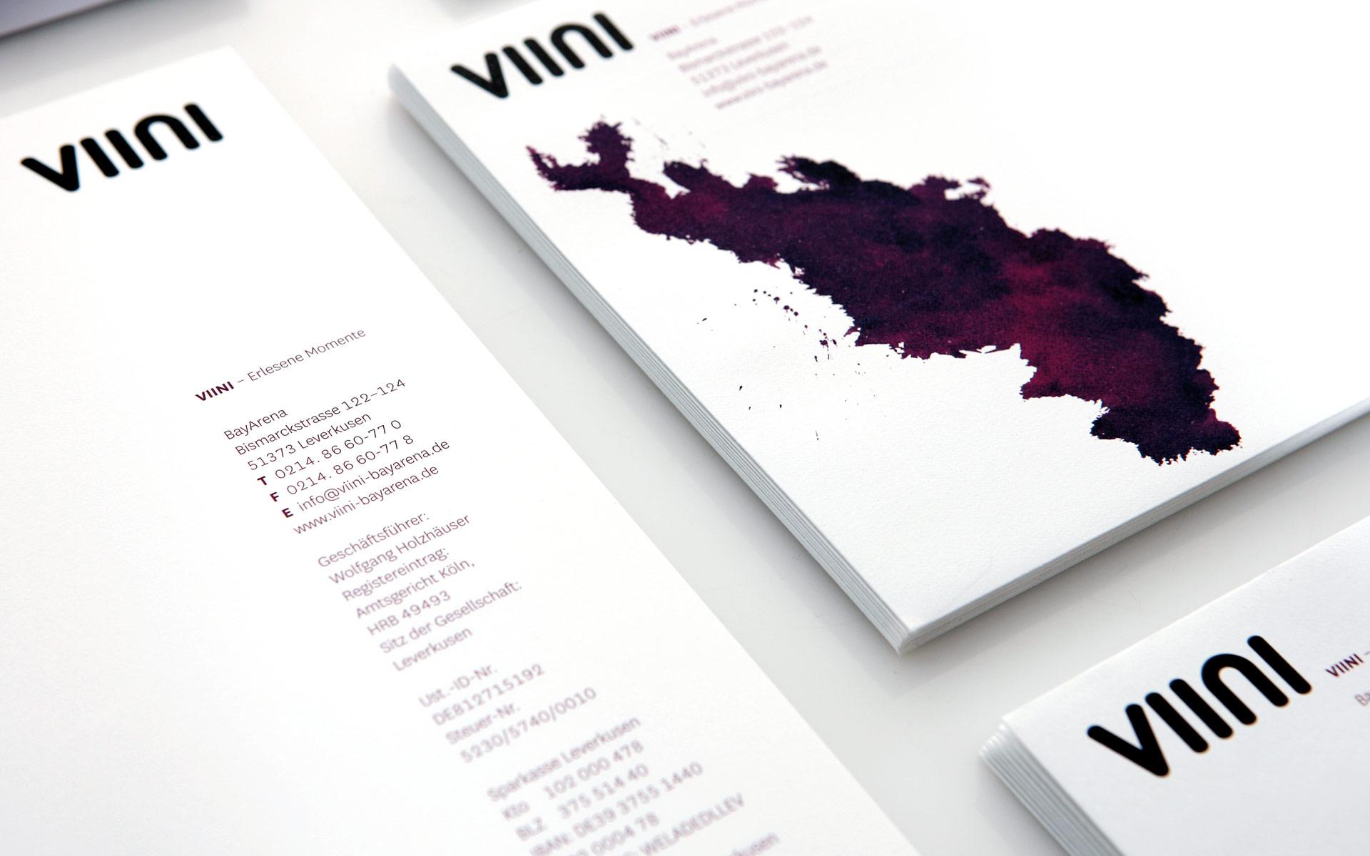 VIINI Brand Identity, Corporate Design, Geschäftsausstattung, Briefbogen