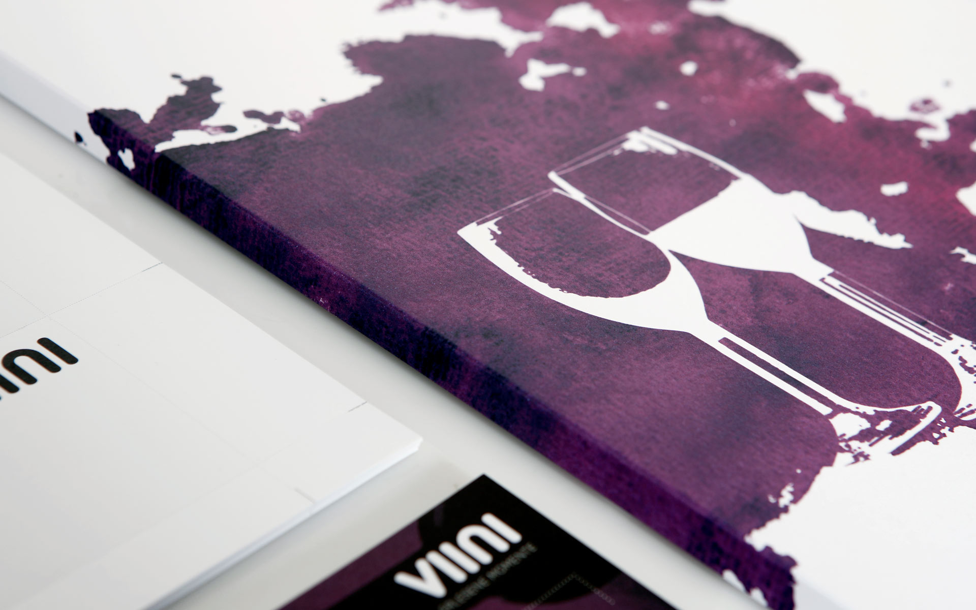 VIINI Brand Identity, Corporate Design, Pressefolder, Detail