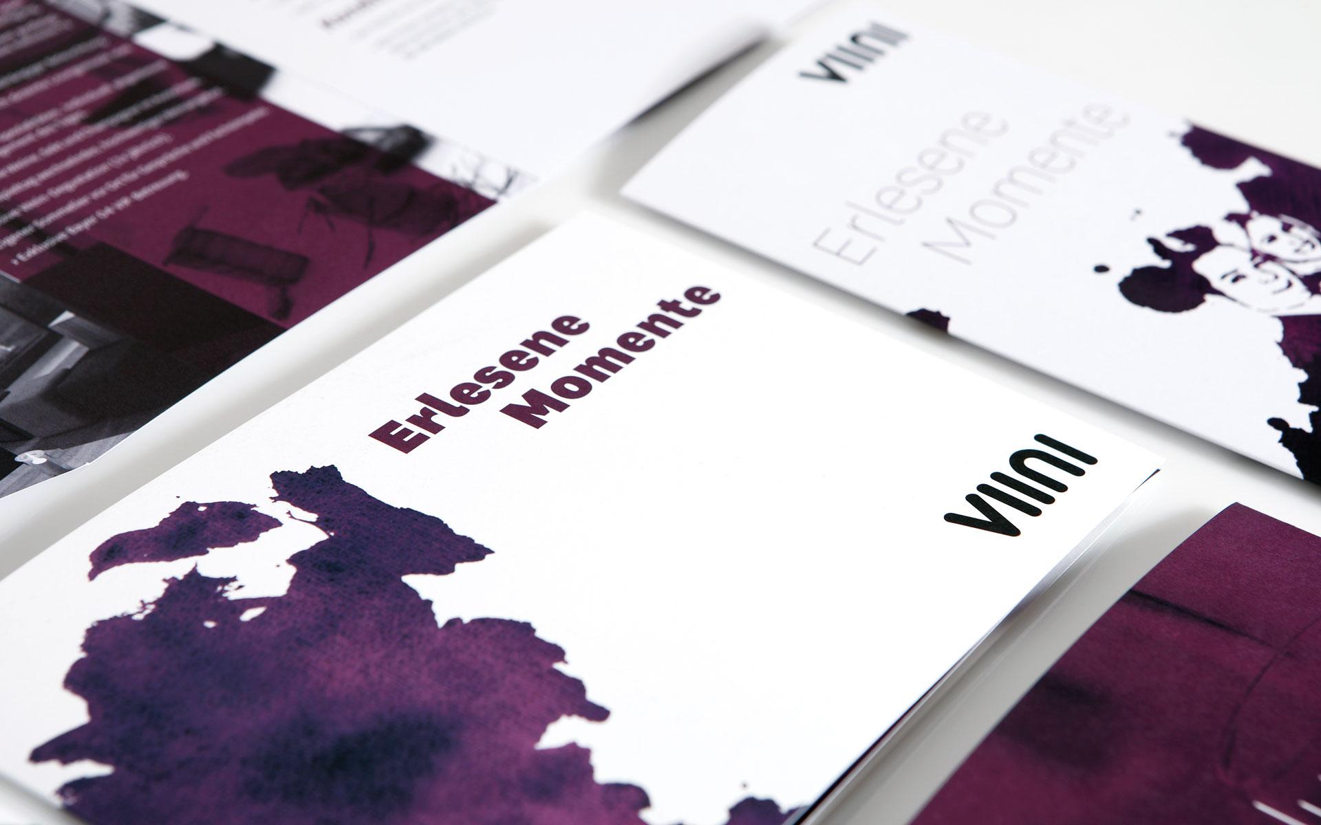 VIINI Brand Identity, Corporate Design, Broschürentitel, Detail