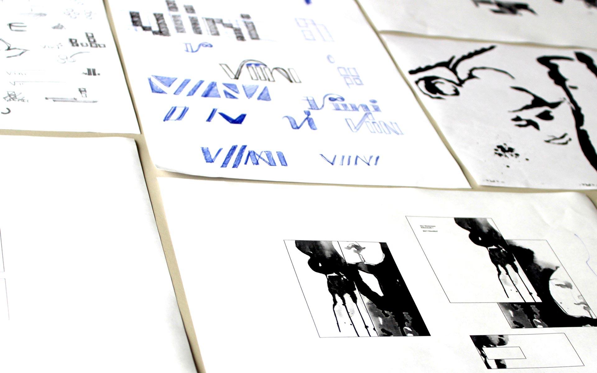 VIINI Brand Identity, Corporate Design, Konzeptskizzen und Entwicklung