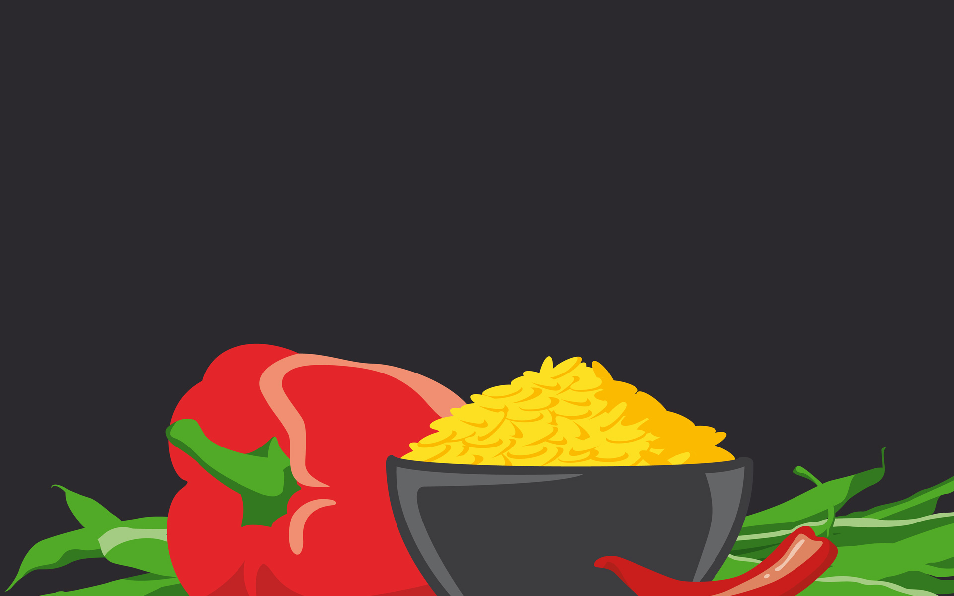 youcook Brand Identity, Illustration, Bali Nasi Goreng