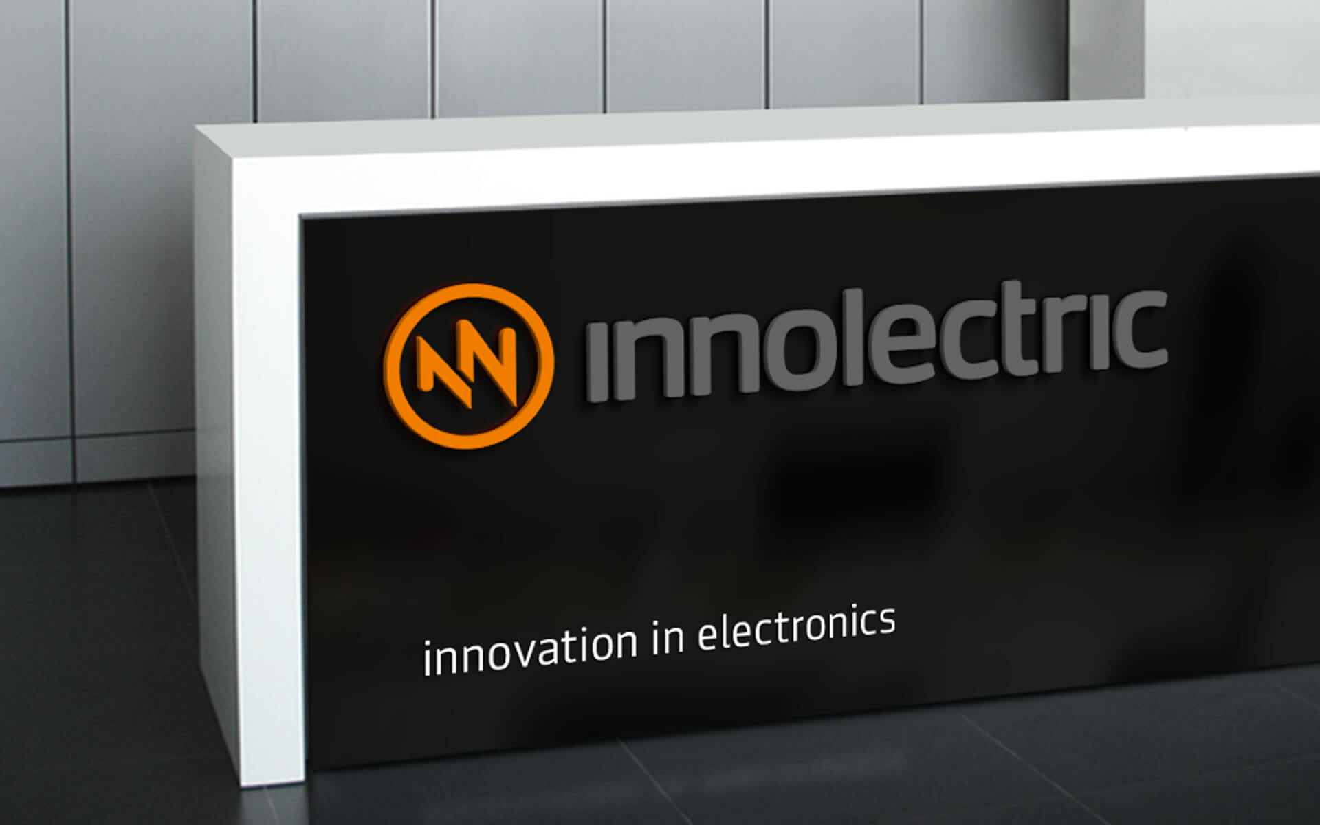 innolectric Corporate Design, Interiordesign, Theke