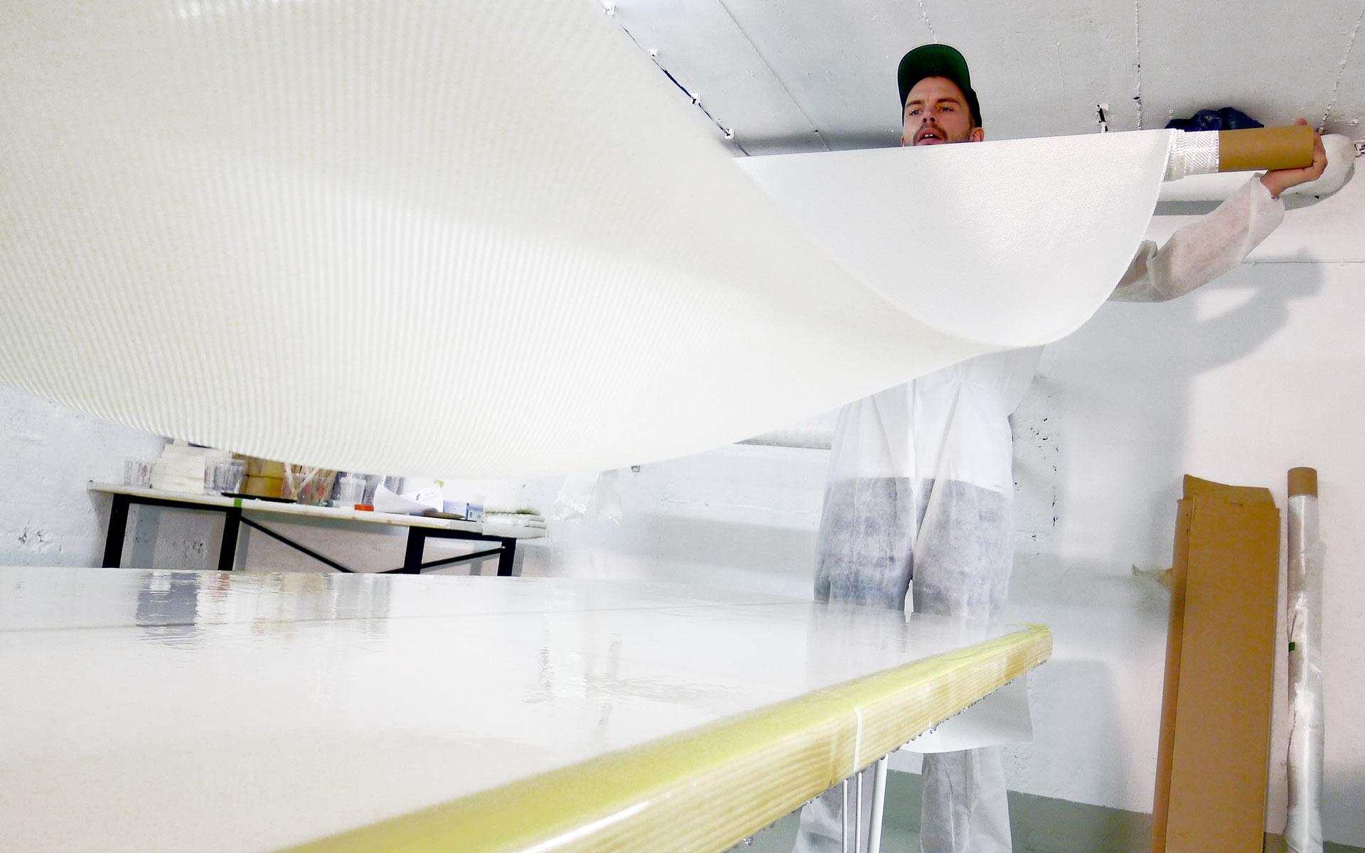 neunoy Corporate Design, Herstellungsprozess, Beschichtung