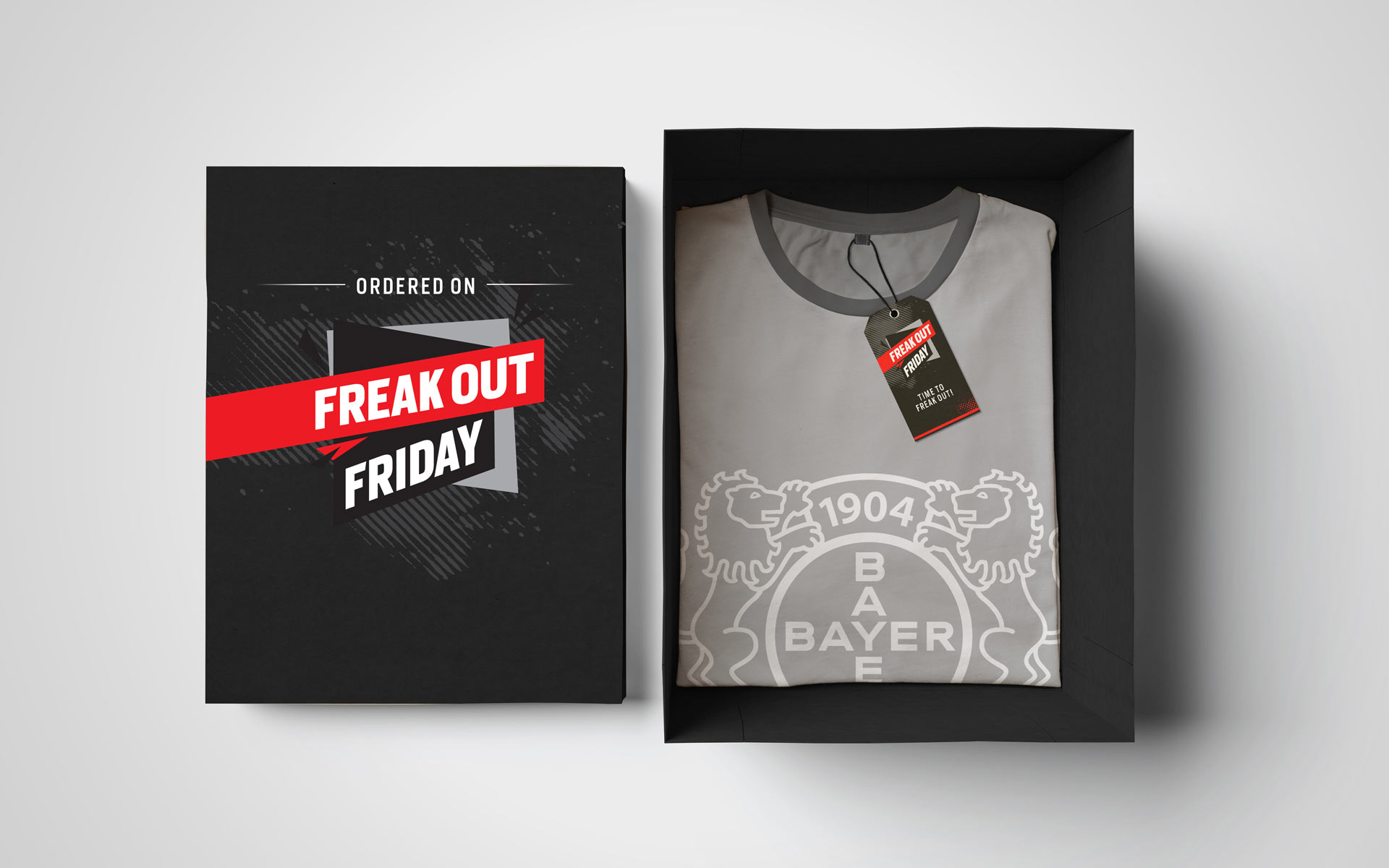 "Saleskampagne ""Freakout Friday"", Bayer 04 Leverkusen, Markenkommunikation, Corporate Design, Merchandising"