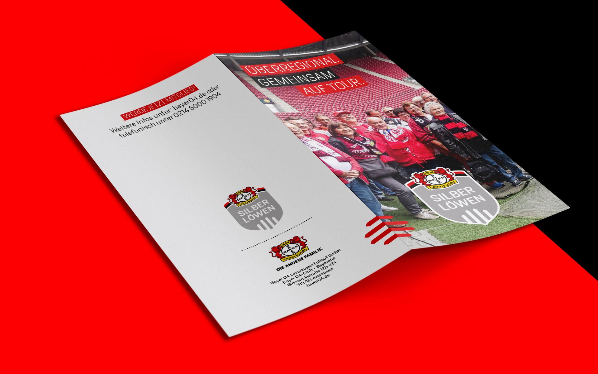 Bayer 04 Leverkusen, Corporate Design Silberlöwen, Broschürengestaltung