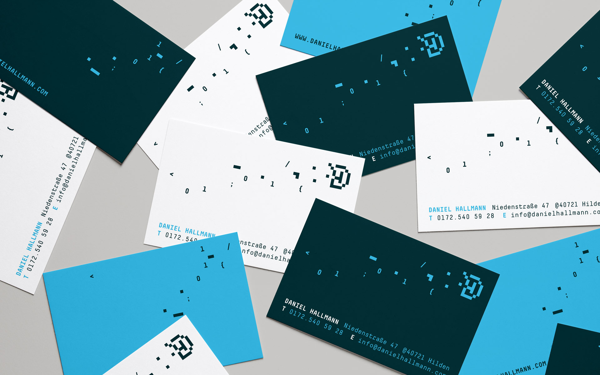 Daniel Hallmann Corporate Design, Stationery, Visitenkarten