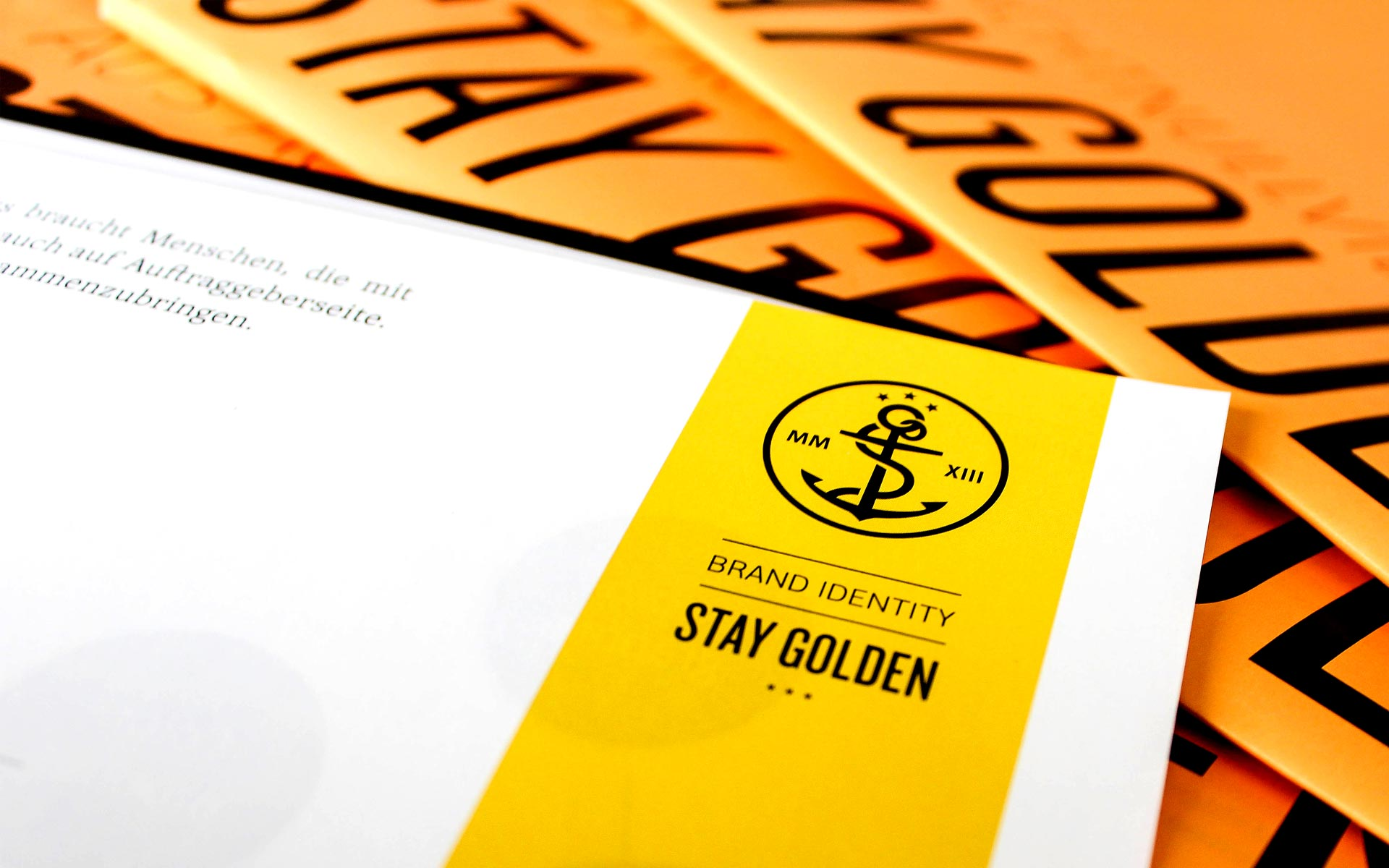 stay golden Brand Identity, Corporate Design, Newsletter