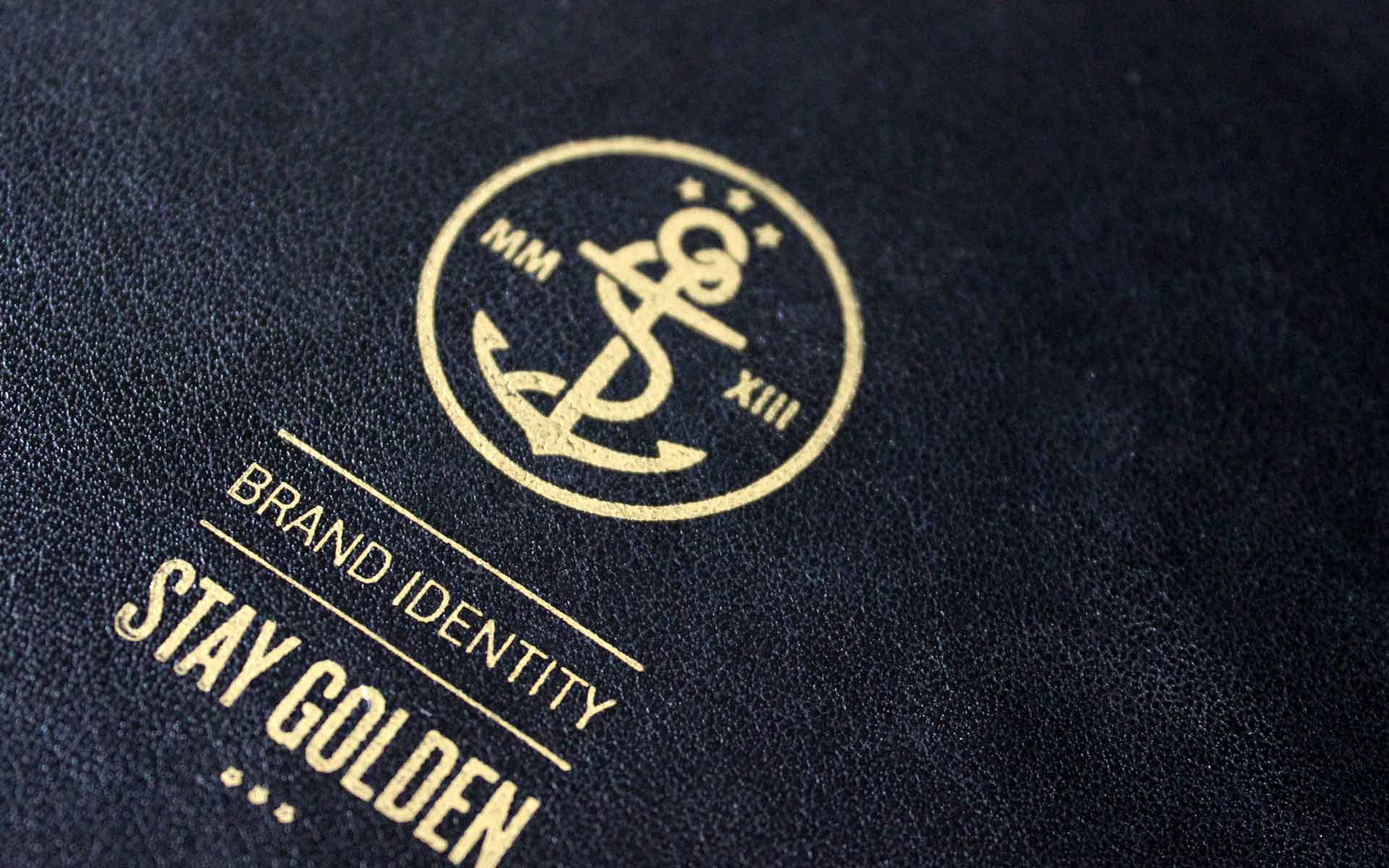 stay golden Brand Identity, Corporate Design, Emblem