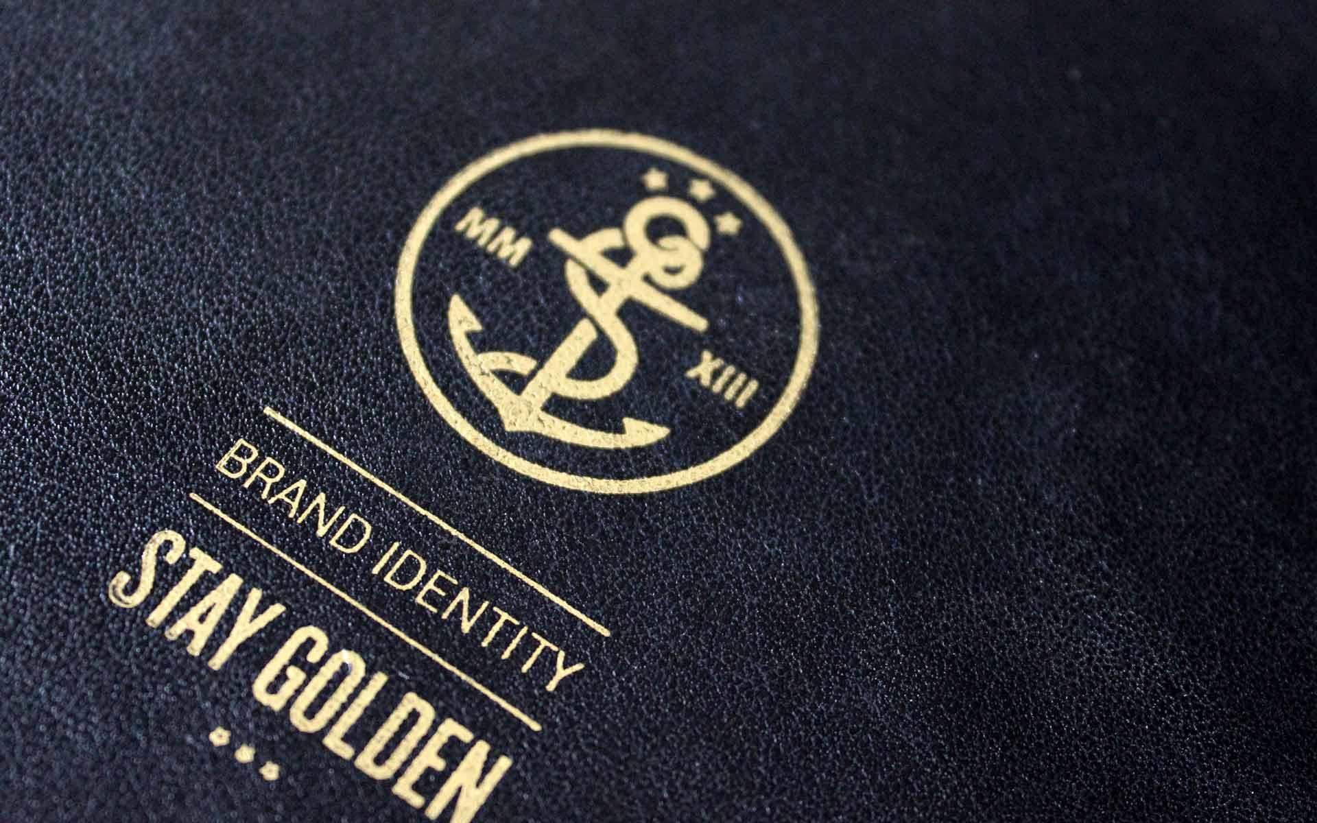 stay golden Brand Identity, Corporate Design, Emblem