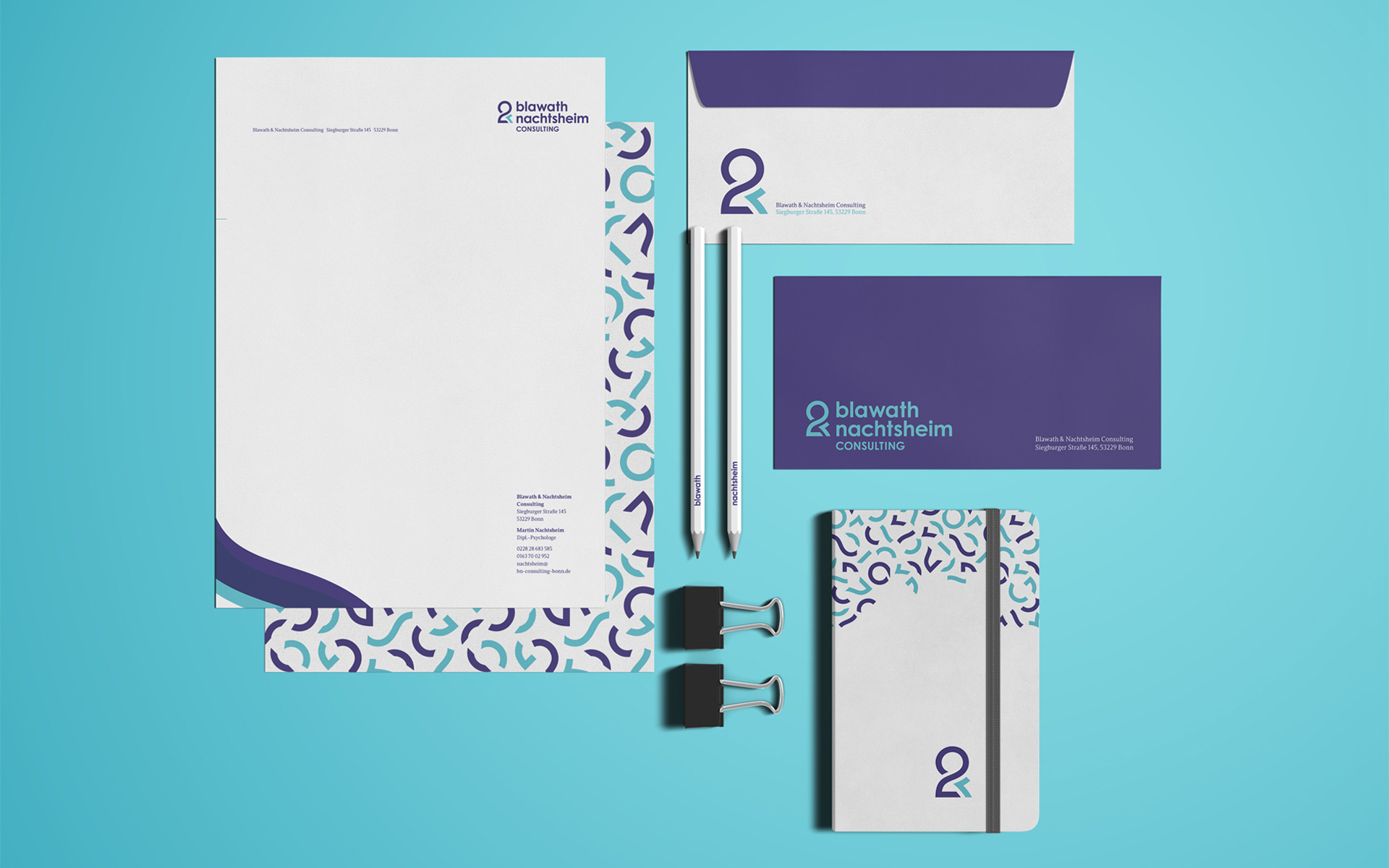 Blawath & Nachtsheim Consulting Corporate Design, Stationery