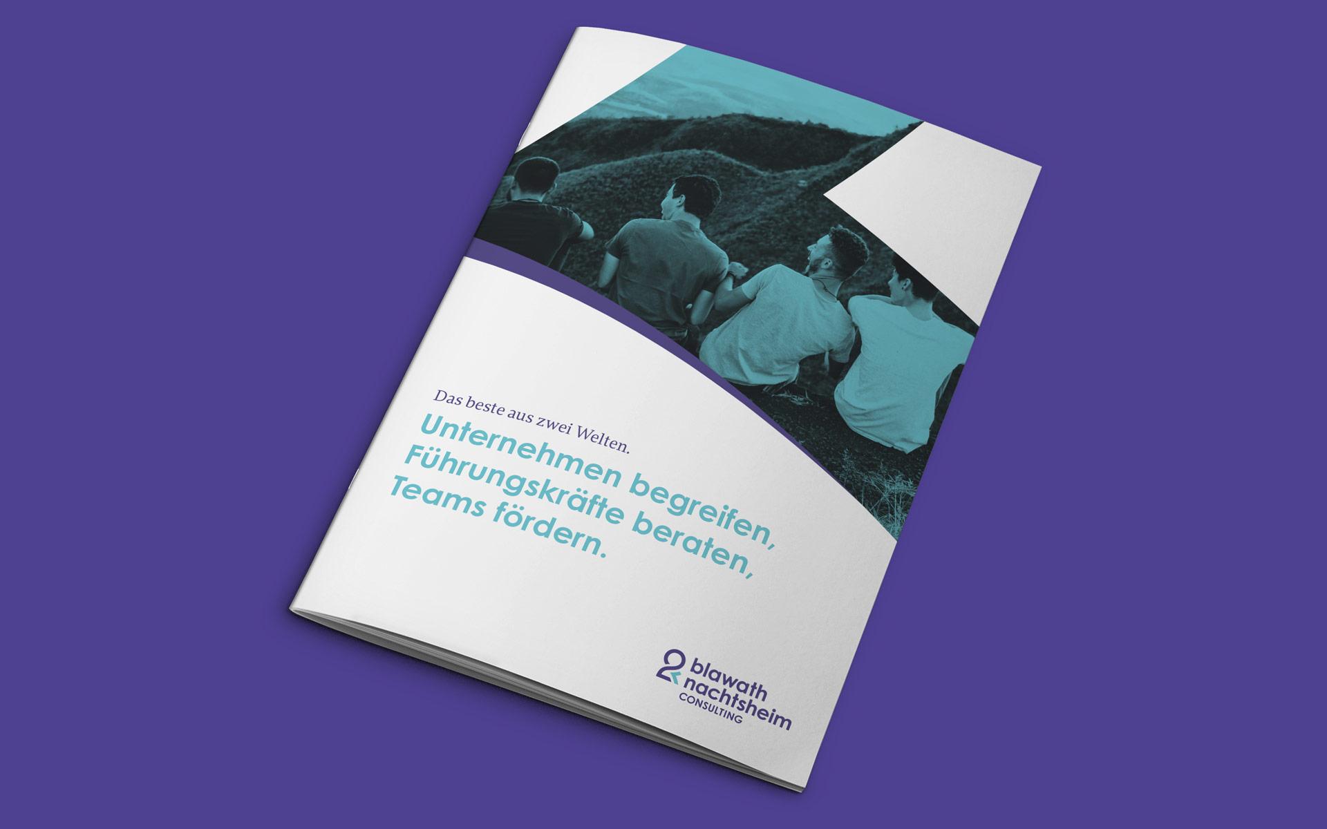 Blawath & Nachtsheim Consulting Corporate Design, Broschürengestaltung, Titel