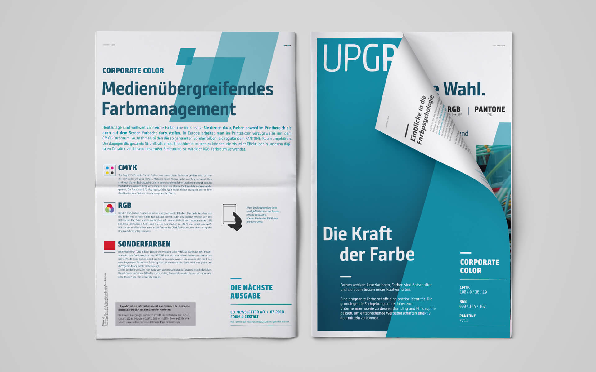 inform Corporate Design, Branding, Newsletter
