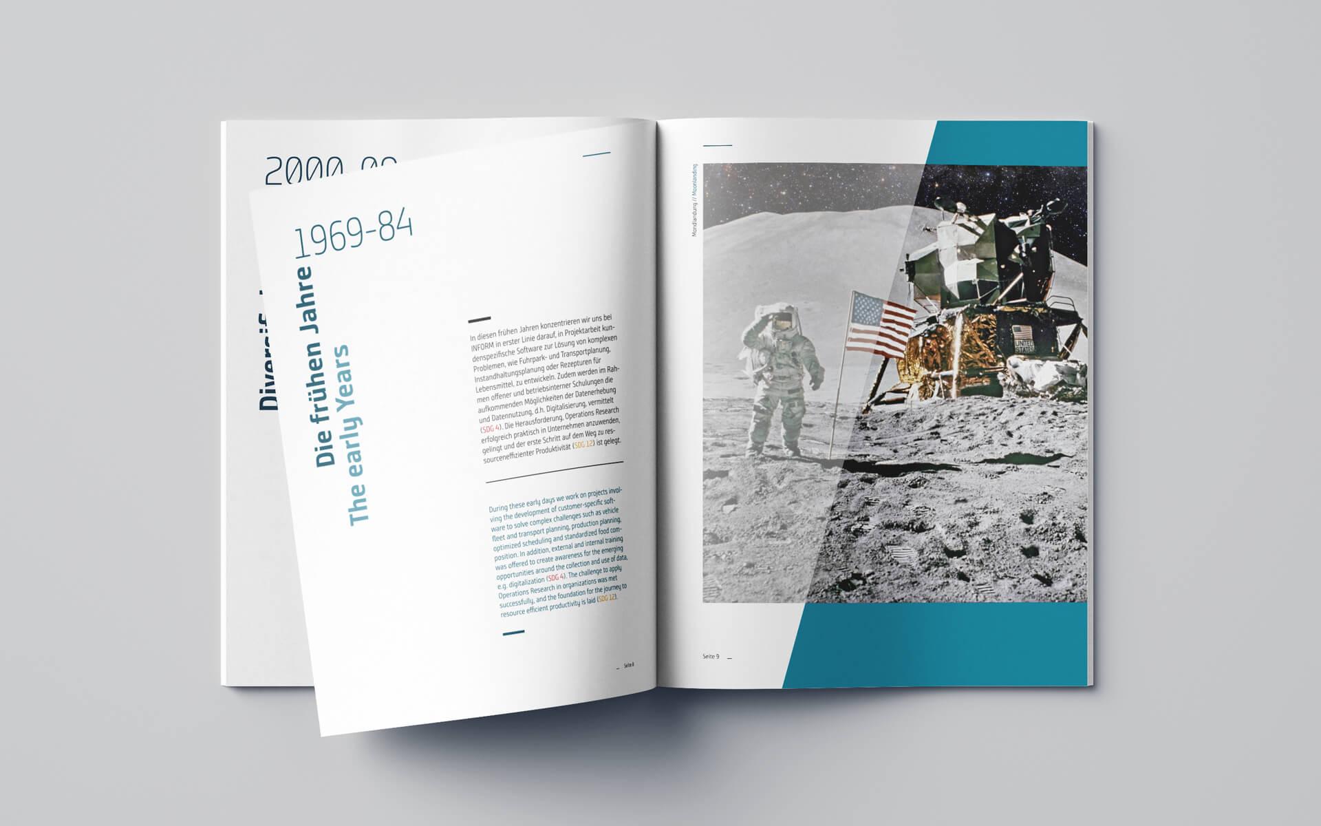 Inform Corporate Design, Brochuredesign, Nachhaltigkeitsbericht