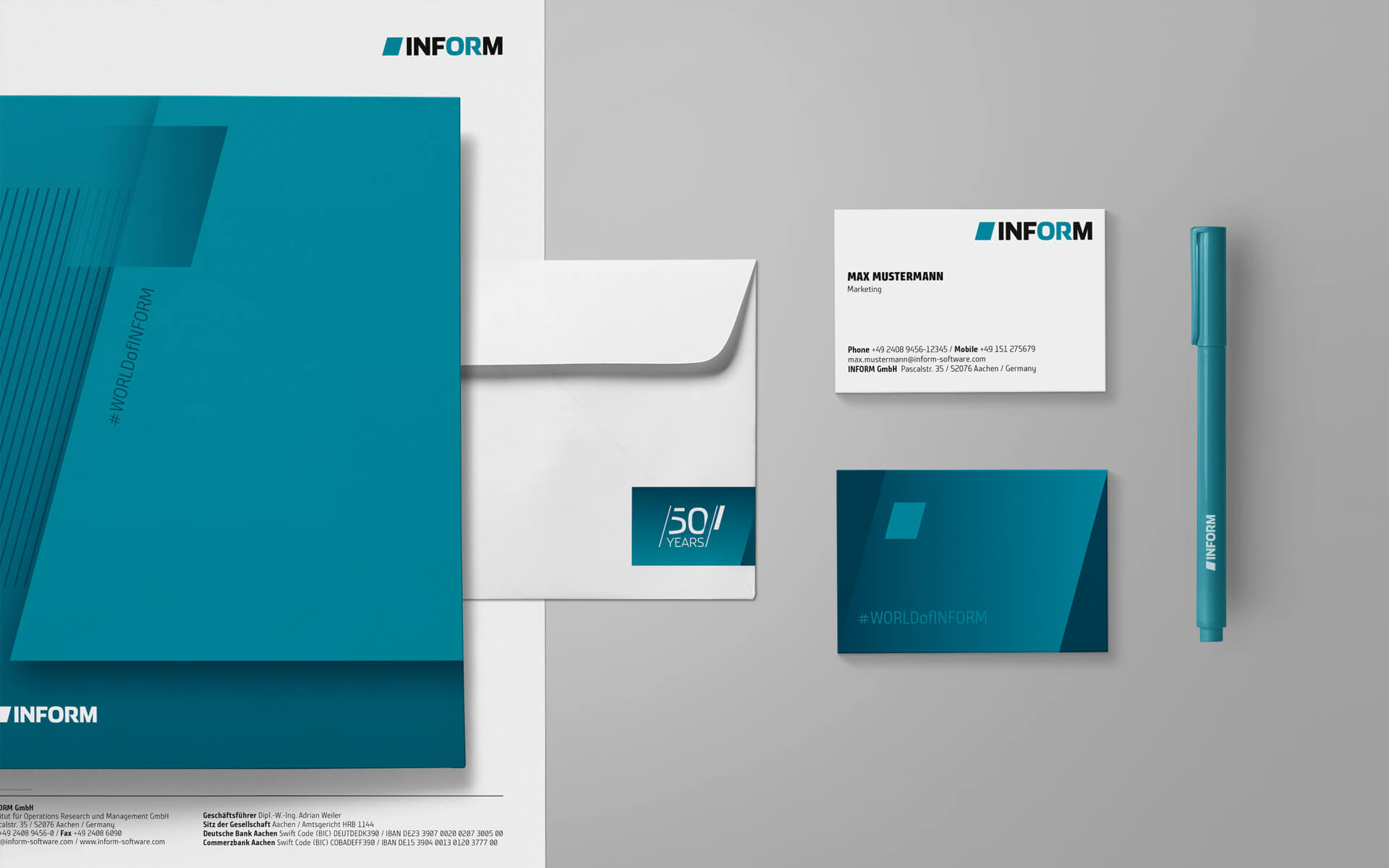 inform Corporate Design, Branding, Stationery items, Geschäftsausstattung
