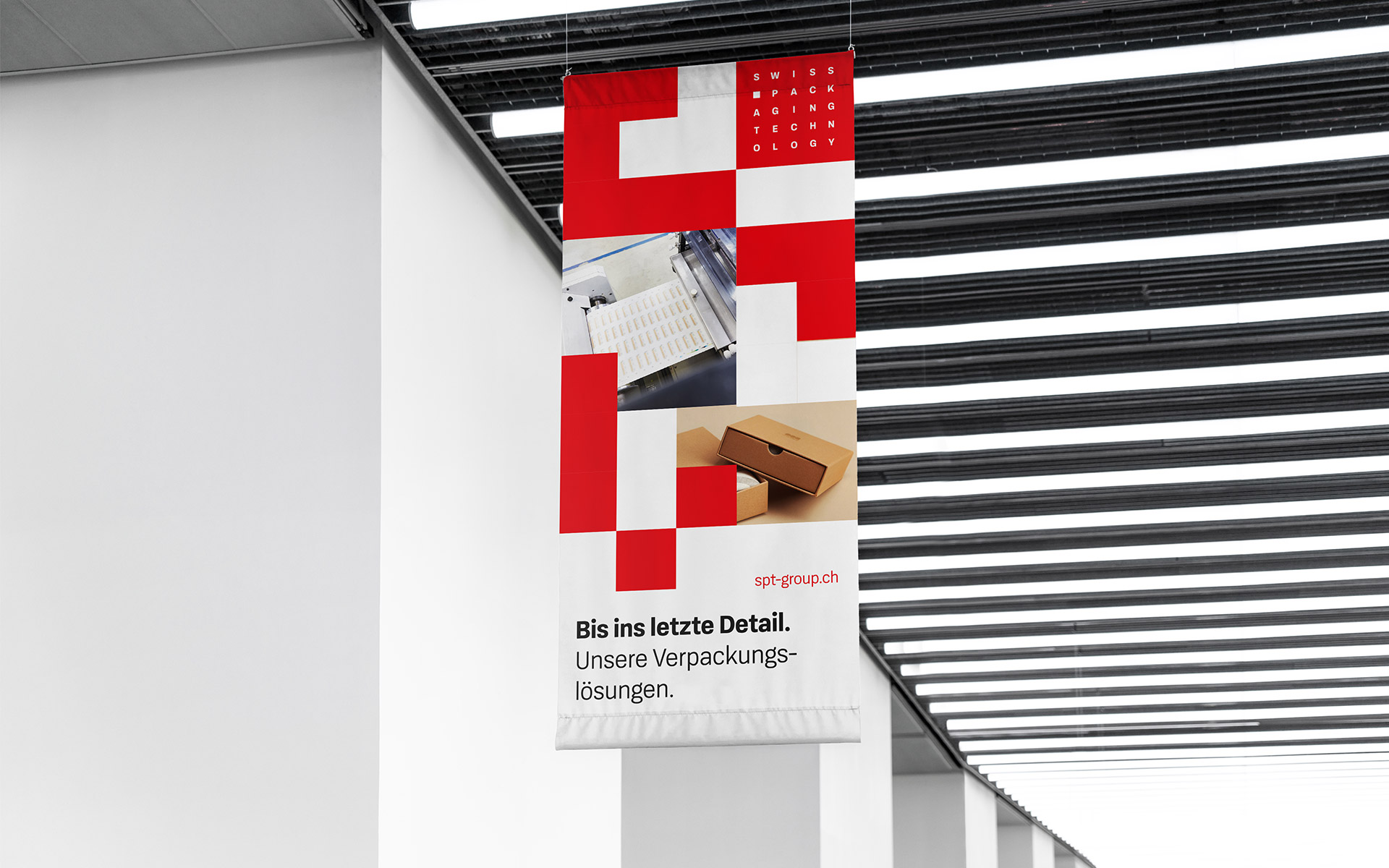 SPT – Swiss Packging Technology Corporate Design, Flaggen-Banner