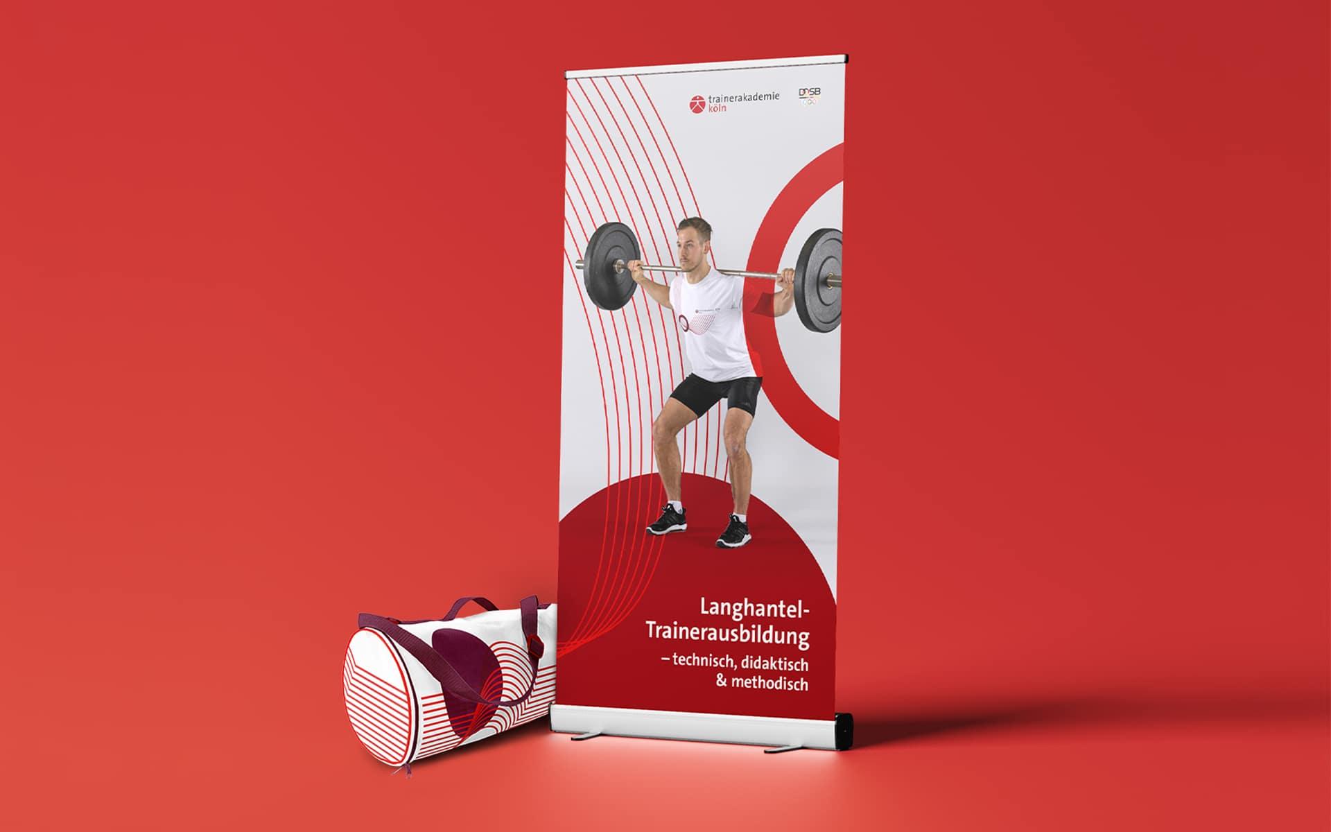 Trainerakademie Köln Corporate Design, Roll-Up-Banners