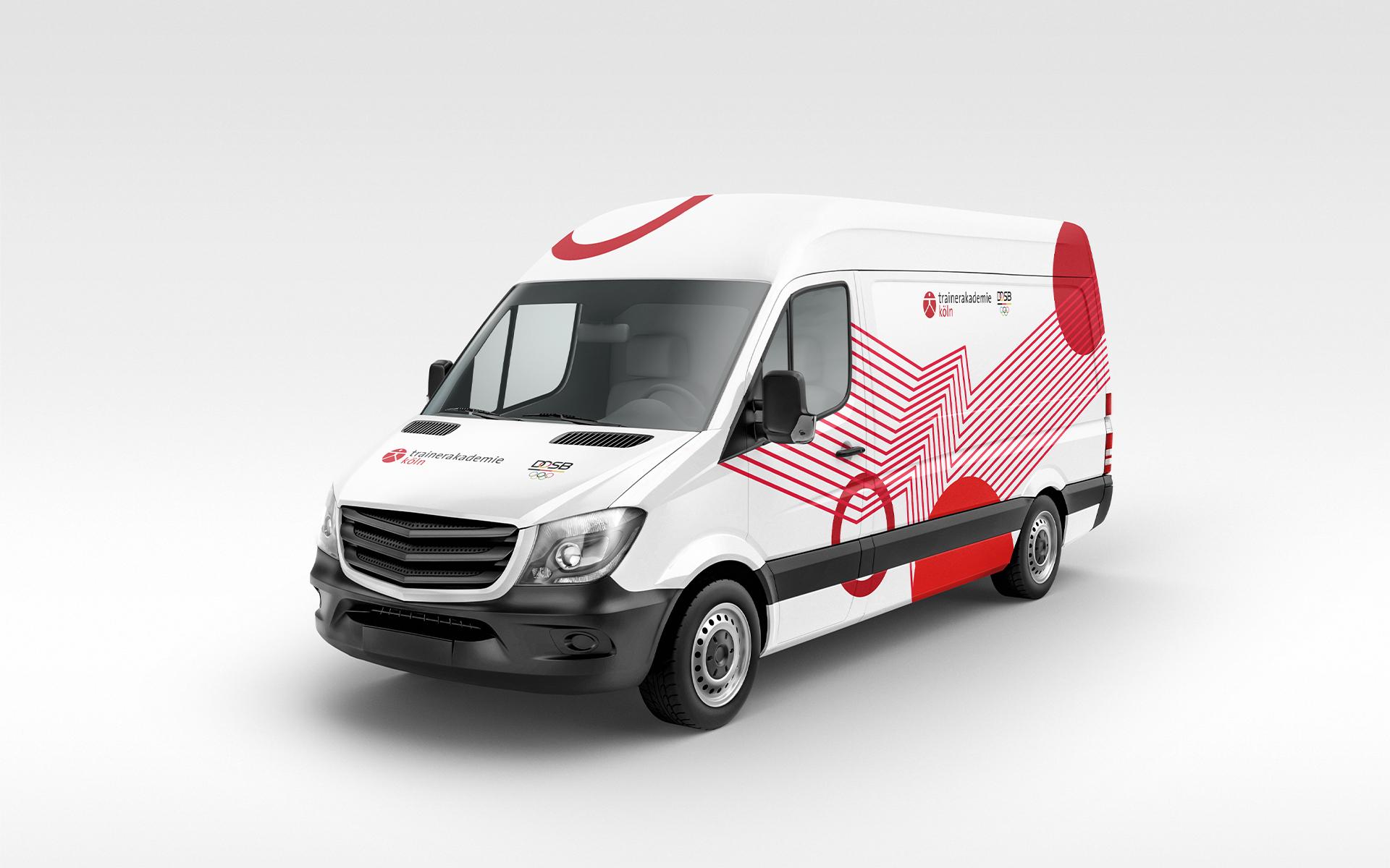 Trainerakademie Köln Corporate Design, Beschriftung der Fahrzeuge