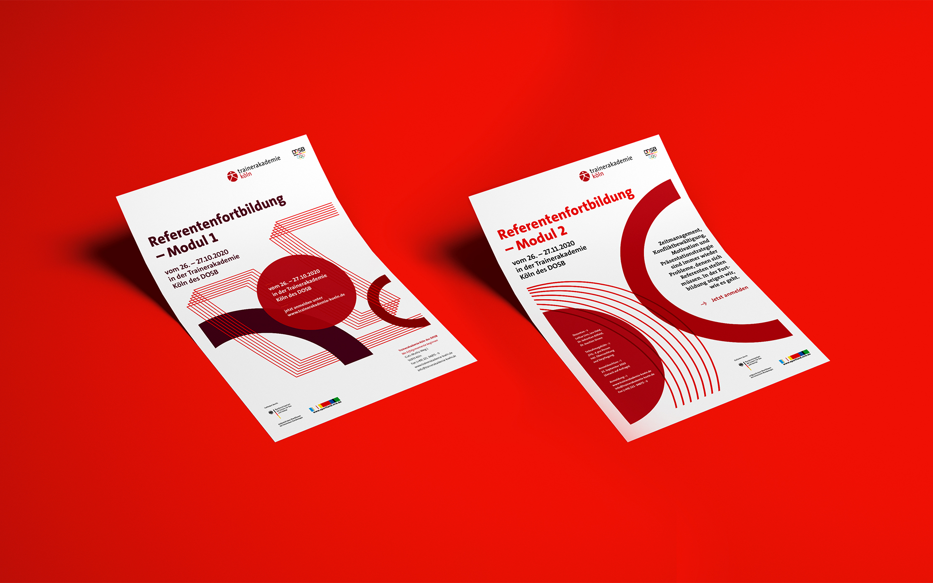 Trainerakademie Köln Corporate Design, Veranstaltungsflyer