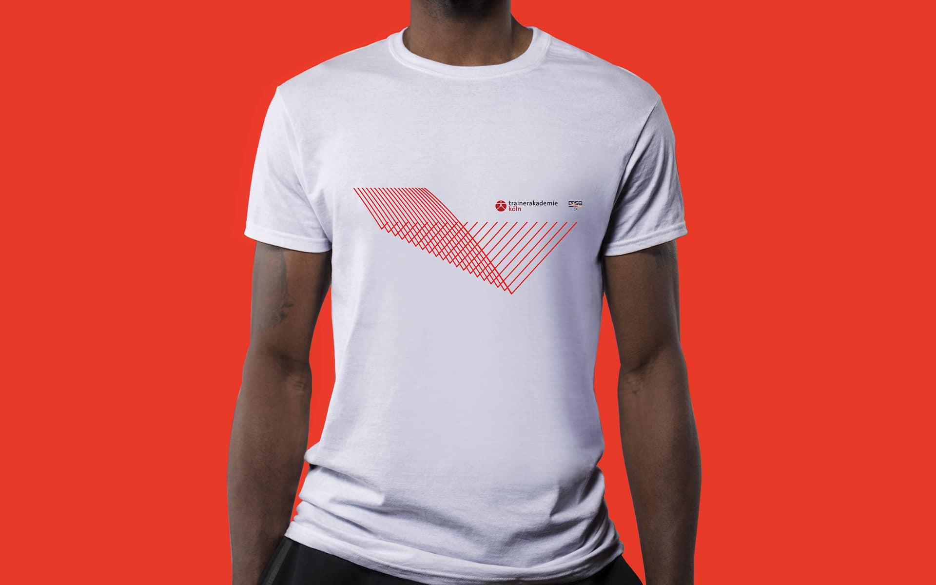 Trainerakademie Köln Corporate Design, T-Shirt-Branding