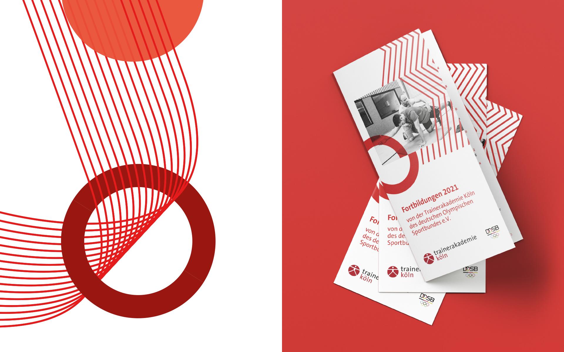 Trainerakademie Köln Corporate Design, Kombination von Gestaltungselementen und Anwendung