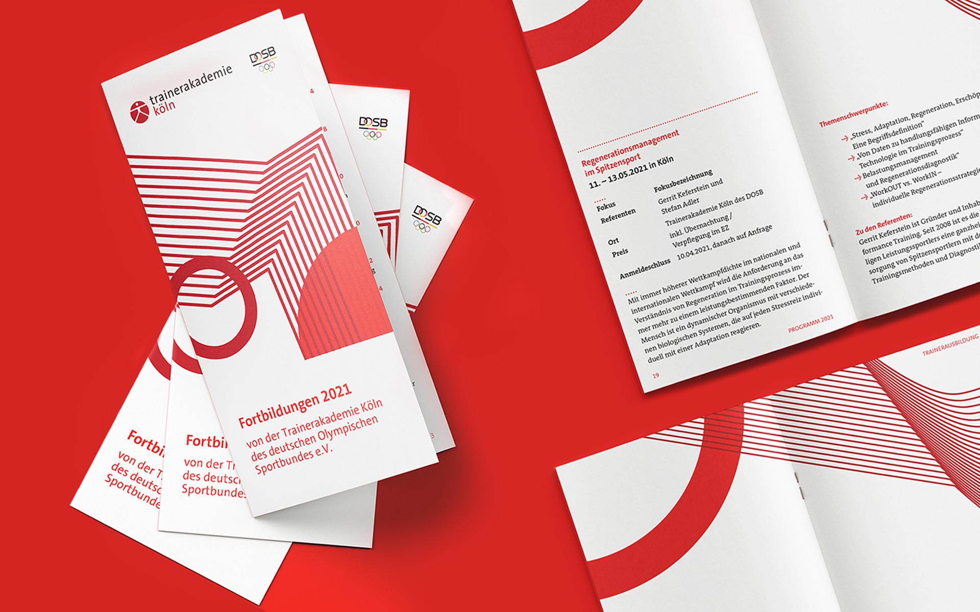 Trainerakademie Köln Corporate Design, Broschürengestaltung