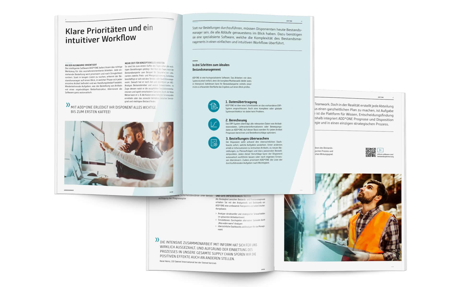 inform Bildsprache, Anwendungsbeispiel Brochure