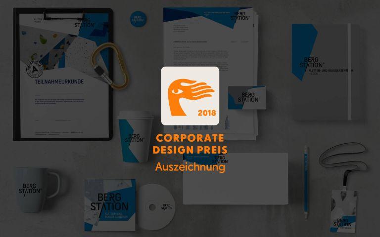 Auszeichnung beim Corporate Design Preis 2018 für die Bergstation