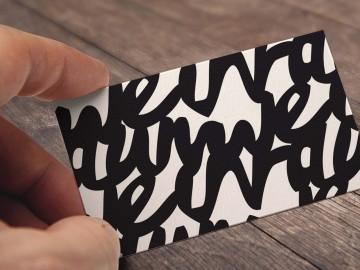 Weinraum Corporate Design, Visitenkarte, typografisches Muster