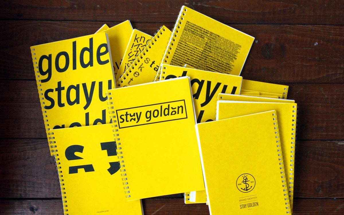 stay golden Skizzenbücher