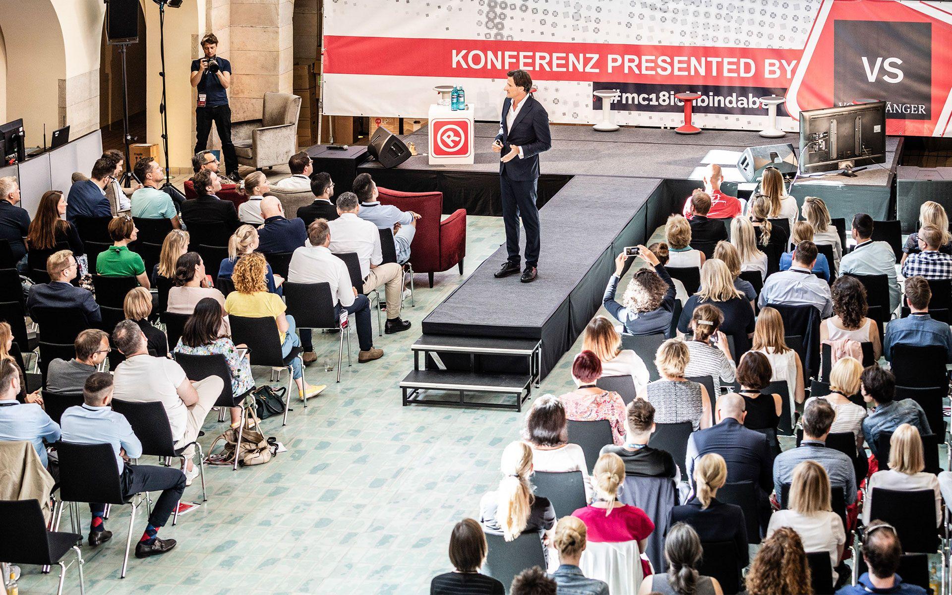 stay golden auf dem Markencamp 2018 in Berlin, Keynote Peter Martin