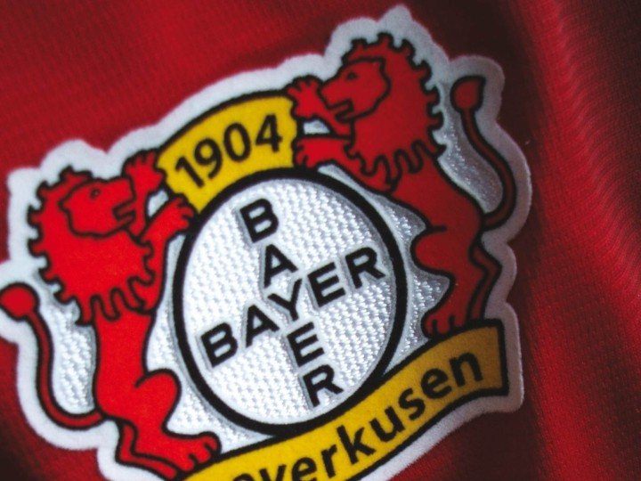 Bayer 04 Leverkusen Corporate Design, Bayer04-Emblem auf dem Trikot