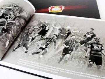 Bayer 04 Leverkusen Vermarktungsbroschüre, Doppelseite Bildcomposing