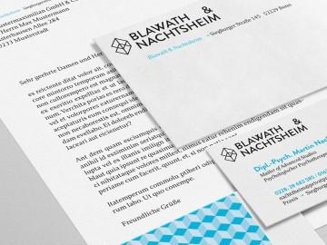 Blawath & Nachtsheim Corporate Design, Geschäftsausstattung, Details