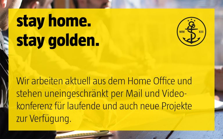 stay golden, home office, corona, corvid19, project, designer, corporate design, brand identity, markenkommunikation, düsseldorf