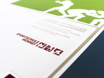 Sportschule Hennef Corporate Design, Briefbogen, Logotype