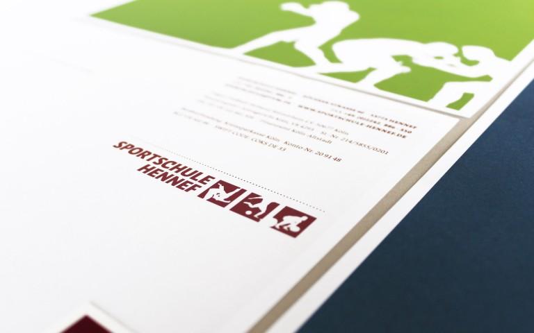 Sportschule Hennef Corporate Design, Briefbogen, Logotype