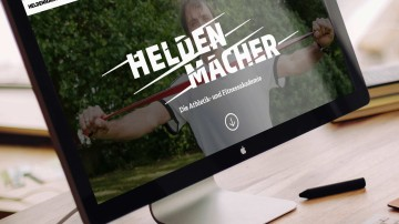 Heldenmacher Corporate Design & Website, Screenansicht der Website