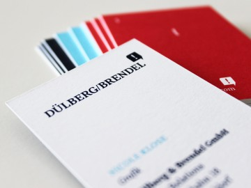 Dülberg & Brendel Corporate Design, Visitenkarte, Logotype