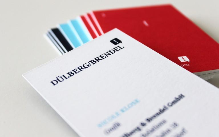 Dülberg & Brendel Corporate Design, Visitenkarte, Logotype