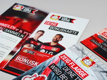 Bayer 04 Markenkommunikation, Corporate Communication, Flyer