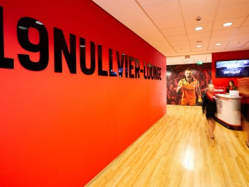 Bayer 04 Businesslounge Neunzehnnullvier, Corporate Interiour, Brand Space, Typografie