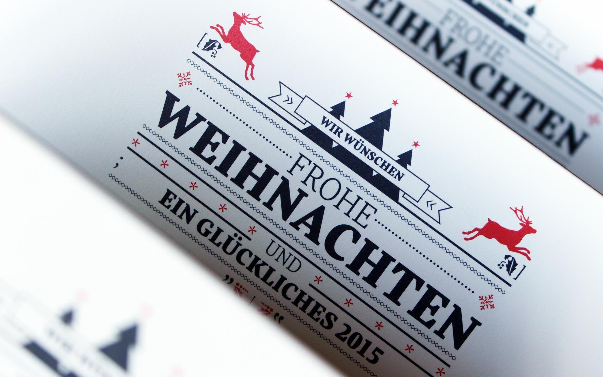 Dülberg & Brendel Corporate Design, Weihnachtskarte, Typografie