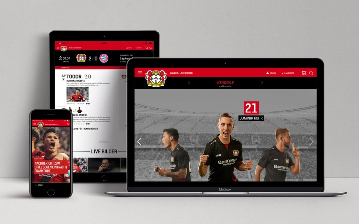 Bayer 04 Website Relaunch, Responsible Webdesign, UX/UI