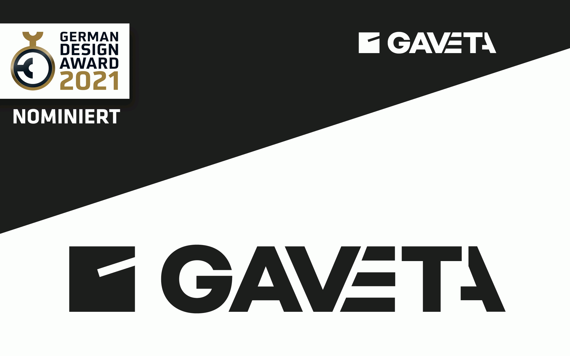 German Design Award Nominee, GAVETA-Logotype, Corporate Design